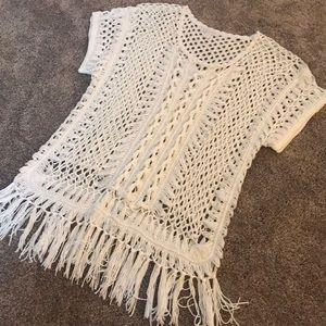 🌷 Boho popover knit coverup